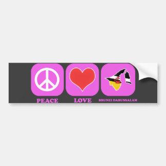 Amor Brunei Darussalam de la paz Pegatina Para Auto