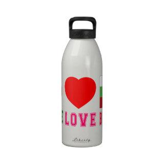 Amor Bulgaria de la paz Botellas De Agua Reutilizables