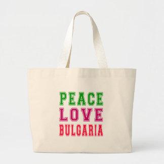 Amor Bulgaria de la paz Bolsas De Mano