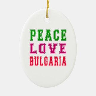 Amor Bulgaria de la paz Adorno Ovalado De Cerámica
