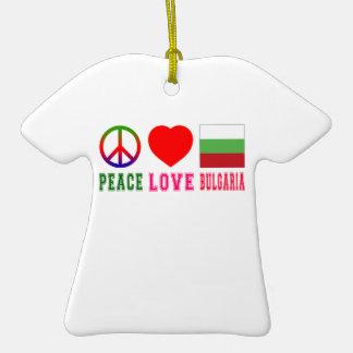 Amor Bulgaria de la paz Adorno De Cerámica En Forma De Playera