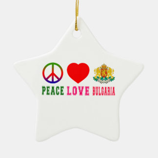 Amor Bulgaria de la paz Adorno De Cerámica En Forma De Estrella