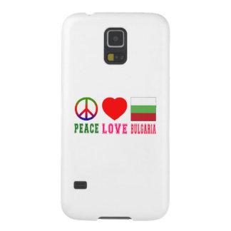 Amor Bulgaria de la paz Funda Para Galaxy S5