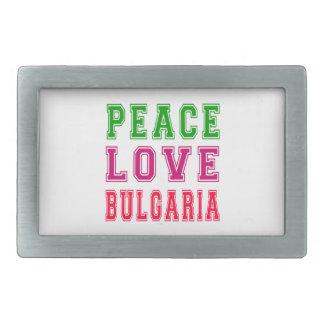 Amor Bulgaria de la paz Hebilla De Cinturon