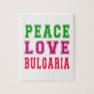Amor Bulgaria de la paz Puzzles