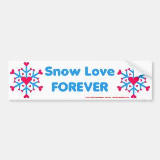 Amor Bumpersticker de la nieve Pegatina Para Auto