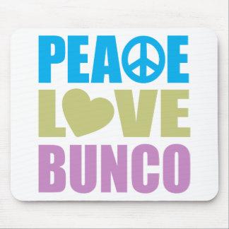 Amor Bunco de la paz Alfombrillas De Ratón