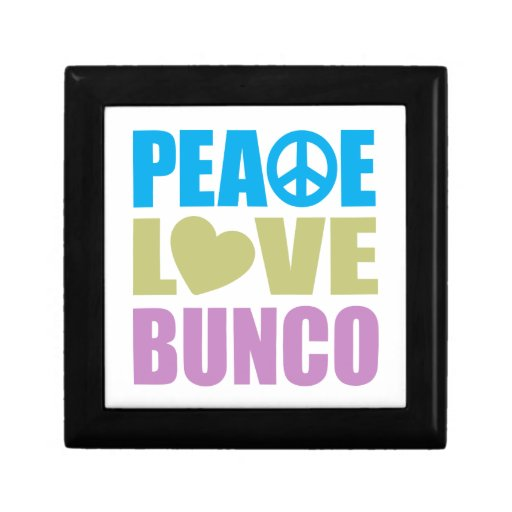 Amor Bunco de la paz Joyero Cuadrado Pequeño