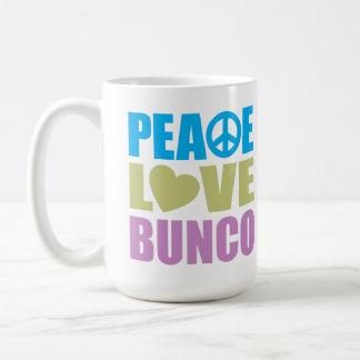 Amor Bunco de la paz Taza