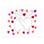 amor bunny02 postal