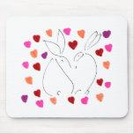 amor bunny02 tapetes de ratón