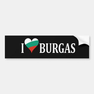 Amor Burgas patriótico Pegatina Para Auto