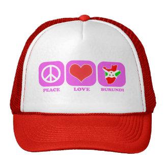 Amor Burundi de la paz Gorras De Camionero