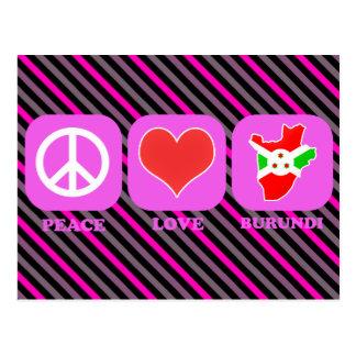 Amor Burundi de la paz Postal