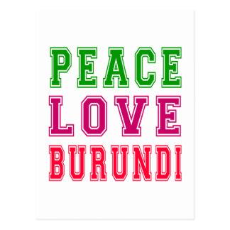 Amor Burundi de la paz Postales