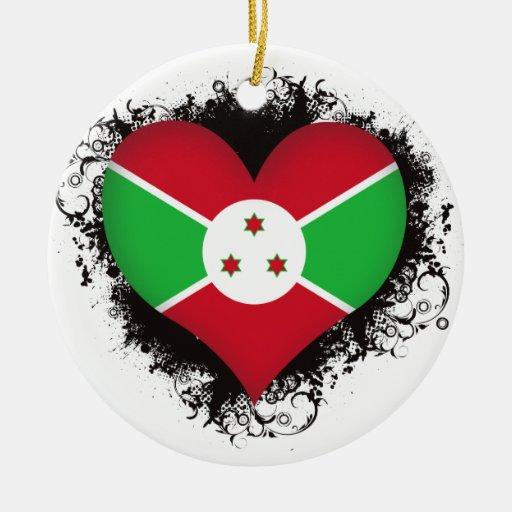 Amor Burundi del vintage I Adorno De Navidad
