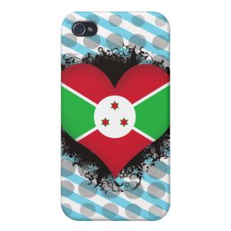 Amor Burundi del vintage I iPhone 4 Protector