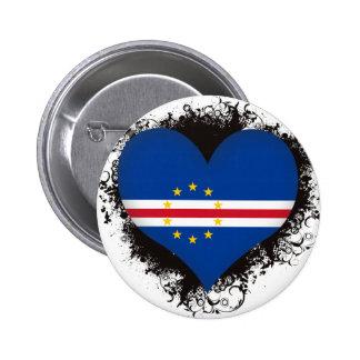Amor Cabo Verde del vintage I Pin Redondo De 2 Pulgadas