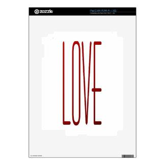 amor calcomanías para iPad 2