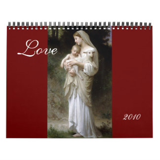 Amor, calendario de Bouguereau 2010