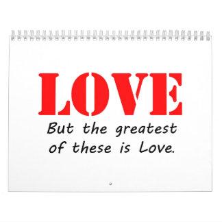 Amor Calendarios De Pared