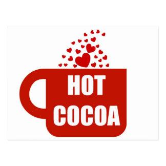 Amor caliente de la taza del cacao postal