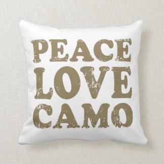 Amor Camo de la paz Almohadas