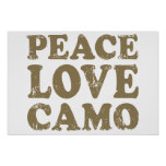 Amor Camo de la paz Poster