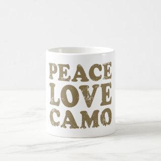 Amor Camo de la paz Taza De Café