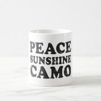 Amor Camo de la paz Tazas De Café