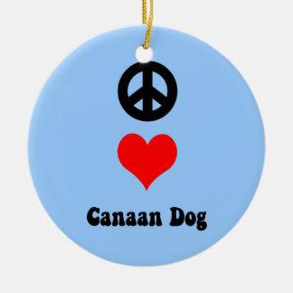 amor Canaan de la paz Adorno Redondo De Cerámica