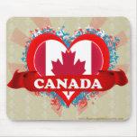 Amor Canadá del vintage I Alfombrilla De Ratón