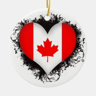 Amor Canadá del vintage I Ornamento De Navidad