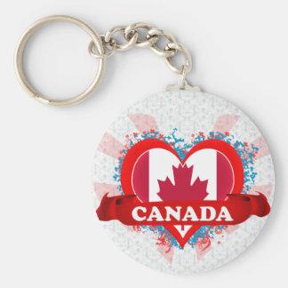 Amor Canadá del vintage I Llavero Redondo Tipo Pin