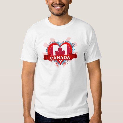 Amor Canadá del vintage I Playeras