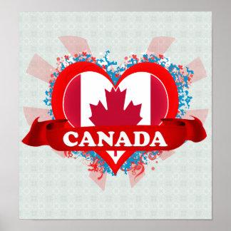 Amor Canadá del vintage I Poster