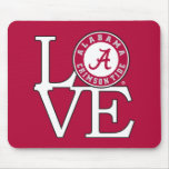 Amor carmesí de la marea de Alabama Alfombrillas De Ratones