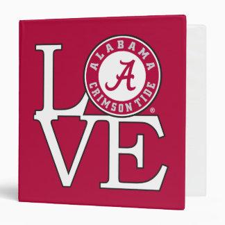 """Amor carmesí de la marea de Alabama Carpeta 1 1/2"""""""