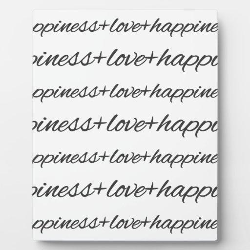 Amor + Casos de la felicidad Placas Con Foto