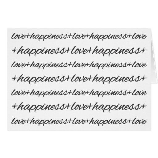 Amor + Casos de la felicidad Tarjeta