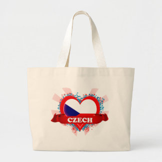 Amor Checo del vintage I Bolsa Tela Grande
