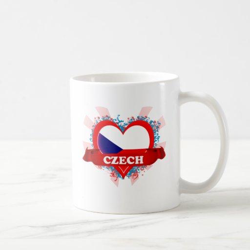 Amor Checo del vintage I Taza Básica Blanca