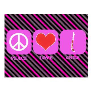 Amor Chile de la paz Tarjeta Postal