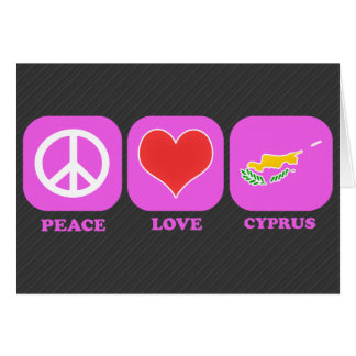 Amor Chipre de la paz Felicitacion