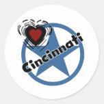 Amor Cincinnati Pegatina Redonda