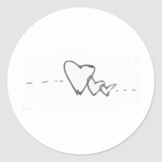 Amor Classic Round Sticker