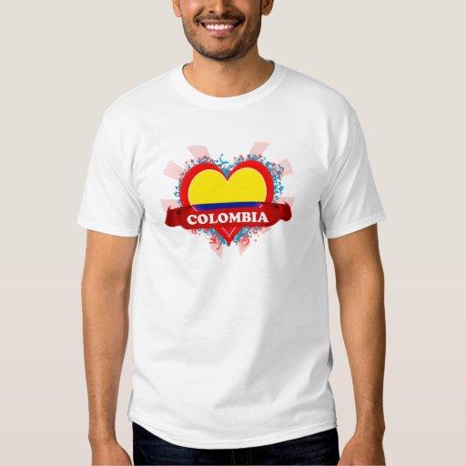 Amor Colombia del vintage I Playeras