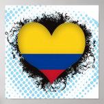 Amor Colombia del vintage I Poster
