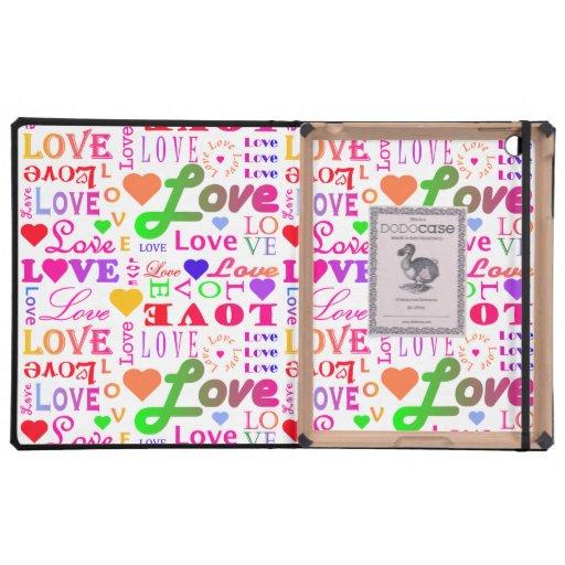 Amor colorido, amor, amor, amor, amor, amor, amor iPad carcasas