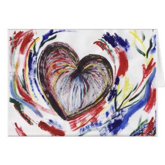 Amor colorido tarjeta de felicitación